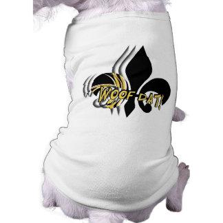 Woof Dat triple Sleeveless Dog Shirt