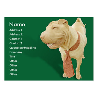 Woof Day at Work Business Card Template