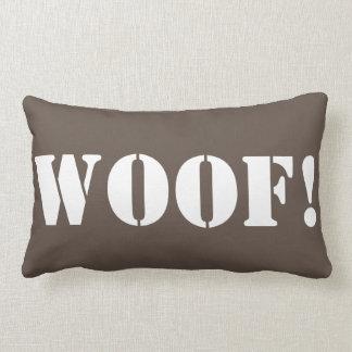 Woof!  - decorative throw pillow