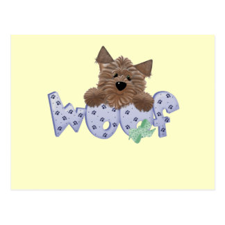 Woof Dog Blue Tshirts and Gifts Postcard