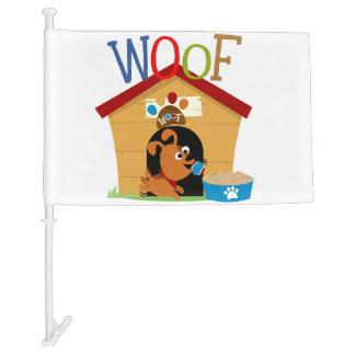 Woof Dog Car Flag