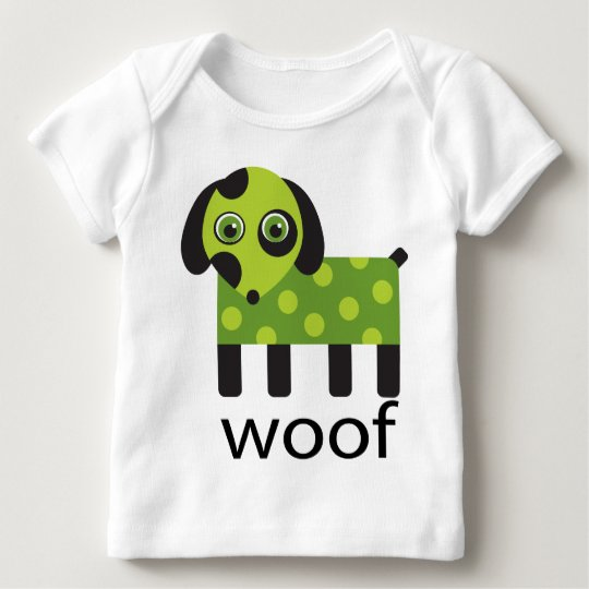 Woof Dog Cartoon Kids Tee