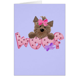 Woof Dog Pink Tshirts and Gifts Cards