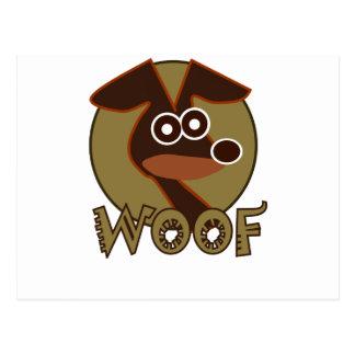 Woof Dog Postcard