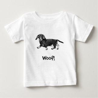 Woof! Dog T-Shirt, Dachshund Baby T-Shirt