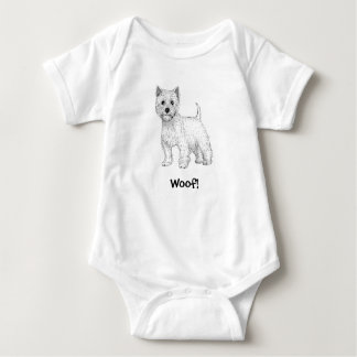 Woof! Doggy Baby Bodysuit - West Highland Terrier