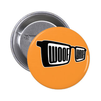 Woof Goggles 6 Cm Round Badge