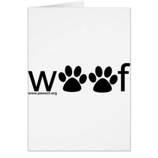 Woof Greeting Card