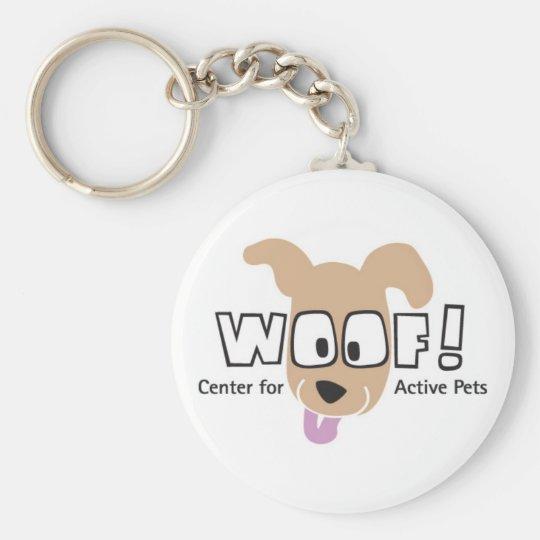 WOOF! Logo Merchandise Basic Round Button Key Ring
