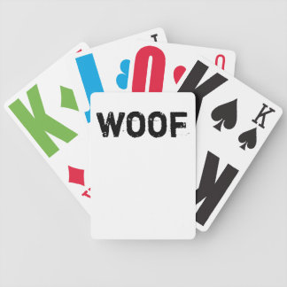 woof playing cards