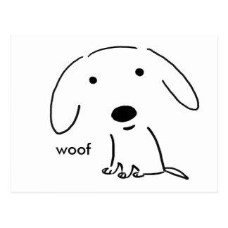 Woof Puppy Postcard