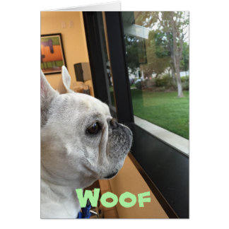 Woof. (Thinking of you!) Greeting Card