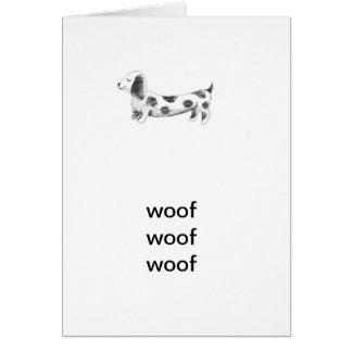 Woof, woof, woof Card