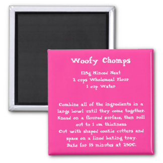 Woofy Chomps Recipe Magnet color