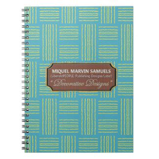 Wool Pattern Decorative Baby Blue Green Notebook