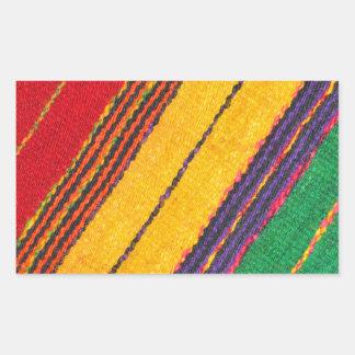 Wool texture rectangular sticker
