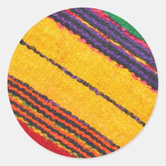 Wool texture round sticker