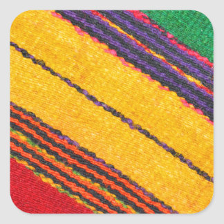 Wool texture square sticker