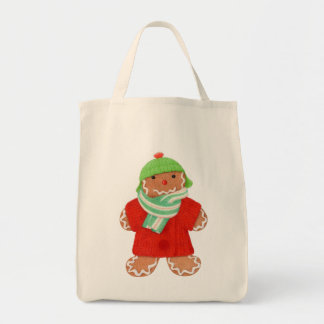 Woolie Gingerbread Grocery Tote #2 Grocery Tote Bag