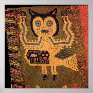 Woollen figure of a jaguar, Paracas Culture Poster