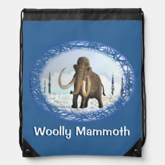 Woolly Mammoth Drawstring Bags