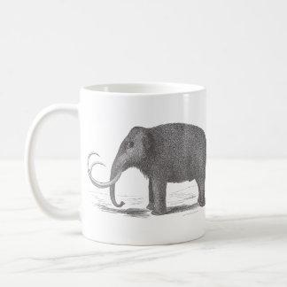 Woolly Mammoth Extinct Mastodon Antique Print Mugs