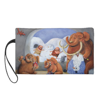 Woolly Mammoth Family in Ice Age Wristlet