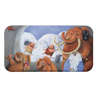 Woolly Mammoth Family in Ice Age iPhone 4 Cover