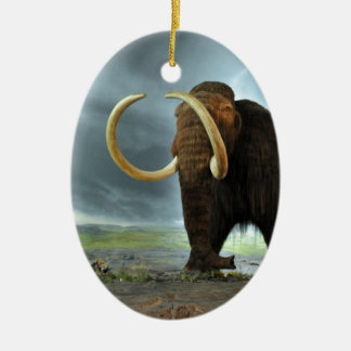 Woolly Mammoth Mod Destiny Ceramic Oval Decoration