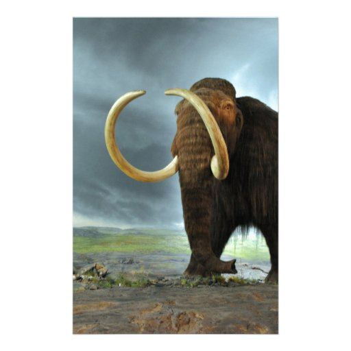 Woolly Mammoth Mod Destiny Stationery Paper