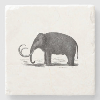 Woolly Mammoth Pre-Historic Elephant Stone Coaster