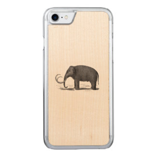 Woolly Mammoth Prehistoric Elephant Carved iPhone 8/7 Case