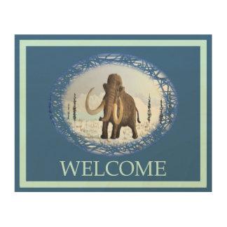 Woolly Mammoth - Welcome Wood Wall Art