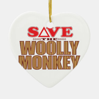 Woolly Monkey Save Christmas Ornament