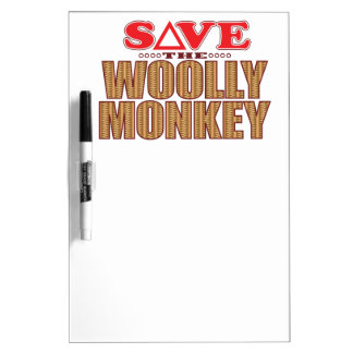 Woolly Monkey Save Dry Erase Board