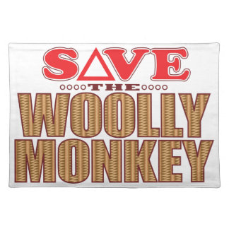 Woolly Monkey Save Placemat