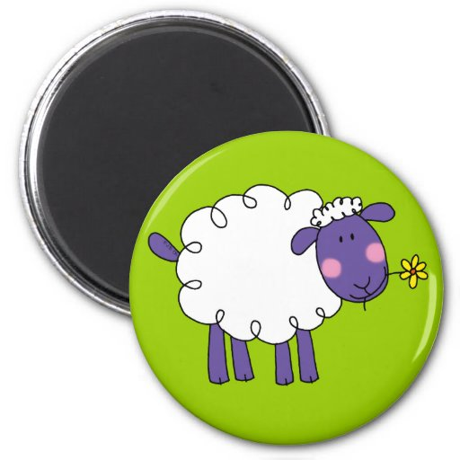 Woolly sheep refrigerator magnet
