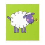 Woolly sheep note pad
