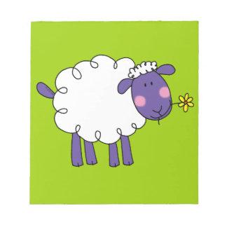 Woolly sheep notepad