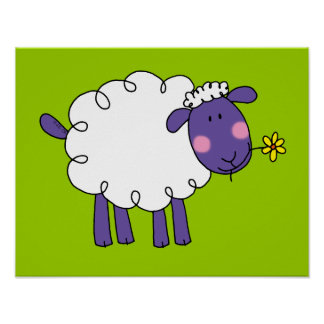 Woolly sheep poster