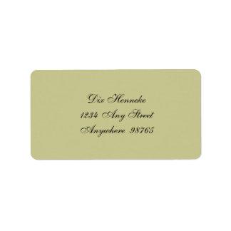 Woolson Spice Company Greeting Address Label