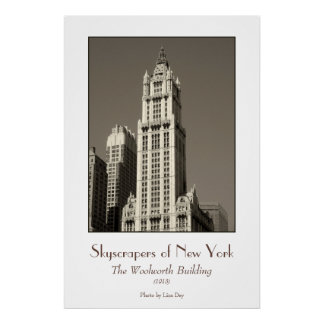 Woolworth Building Poster sepia