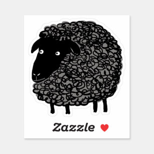 Wooly Black Sheep Cartoon