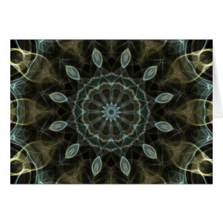 Wooly Green and Blue royal Kaleidoscope Greeting Card