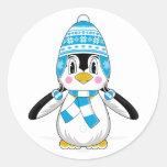 Wooly Hat Penguin Sticker