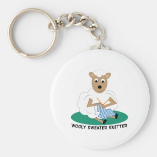 Wooly Sweater Knitter Key Chain