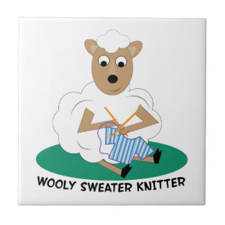 Wooly Sweater Knitter Tiles