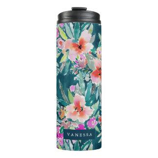WOOT Colorful Tropical Floral Watercolor CUSTOM Thermal Tumbler