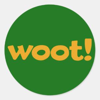 Woot Round Sticker