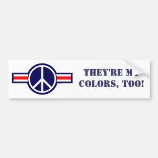 WOP-Korea, They're My Colors, Too! Bumper Sticker